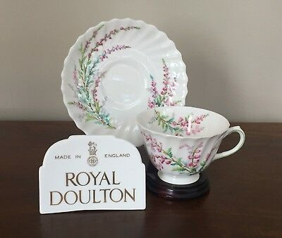 Royal Doulton BELL HEATHER SCALLOPED Footed Cup & Saucer Set(s)