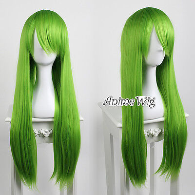 Lolita Grass Green Long 80CM Straight Fashion Party Women Cosplay Wig + Wig Cap
