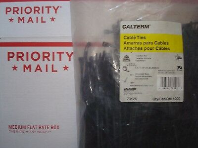 1000 4 8 11 14 Inch Super Heavy Duty Nylon Cable Zip Ties Made Usa Military Spec