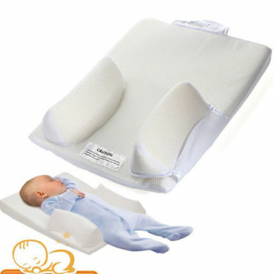 Baby Sleep Positioner Infant Newborn Anti Roll Pillow Prevent Flat Head Cushion