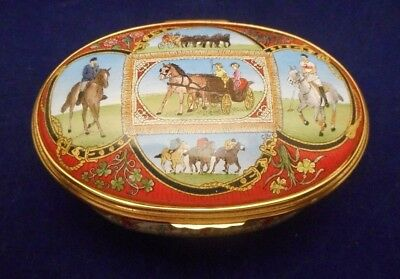 "Halcyon Days Enamels – LIMITED EDITION – ""All the Queen's Horses"" Box - Limoges"