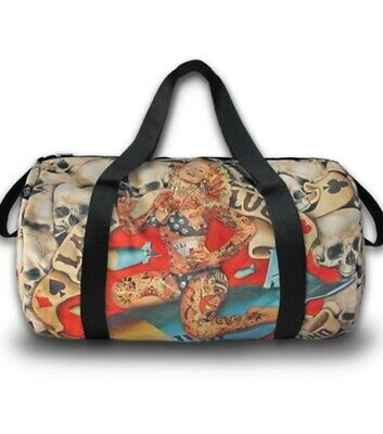 LIQUORBRAND LADY LUCK Large Travel Overnight Gym Duffel Duffle Bag