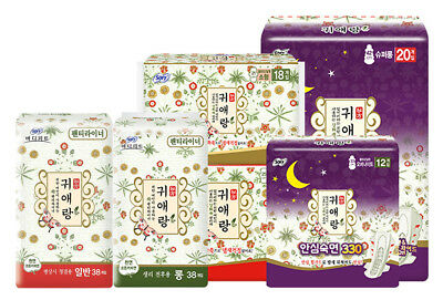 Sofy Body Fit Guierang Mugwort  Korea Herbal Sanitary Napkins  7Types