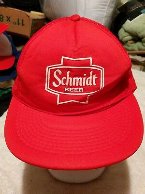 "Red "" Schmidt Beer "" Mesh Style Snap-back Hat Cap"