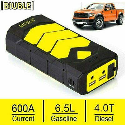 BIUBLE Heavy Duty 600AMP USB Jump Starter Battery Car Power Bank Charger Booster