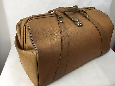 Vintage - Brown Leather - Expandable - Briefcase, Satchel, Bag, Doctors -