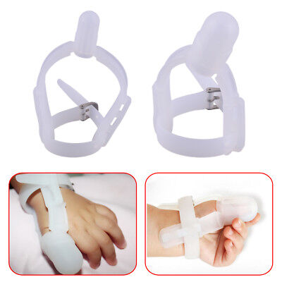 Silicone Thumb Sucking Baby Kids Stop Finger Guard Wrist Band 3 months - 6 years