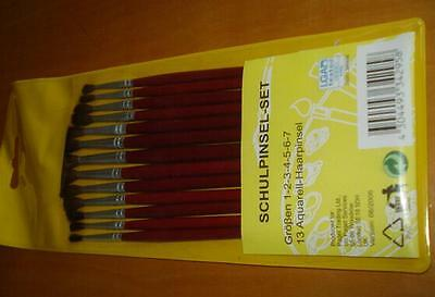 Schulpinsel Set 13 Aquarell Haarpinsel