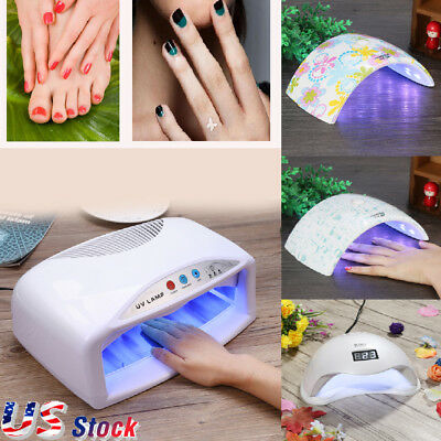 Professional LED UV Nail Dryer Gel Polish Lamp Light Curing Manicure Machine 48W