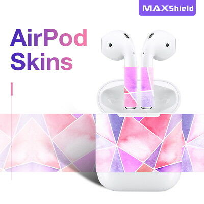 Protector Skin Sticker Decal for Apple Airpods Charging Box & Wireless Earphone