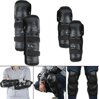 Adjustable 4pcs Adult Elbow Knee Guard Kit For RC Bicycle Motorcycle Black RM6