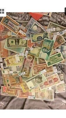 100pc mix world unc banknote from 50 countires