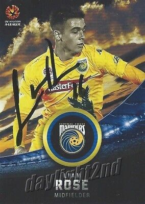 ✺Signed✺ 2016 2017 CENTRAL COAST MARINERS A-League Card LIAM ROSE