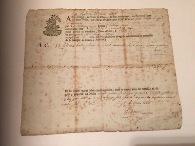 Rare 1806 Napoleonic - Important French Naval History Letter / Customs Book