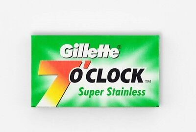 20 x Gillette 7 O'Clock Super Stainless Double Edge Razor Blades