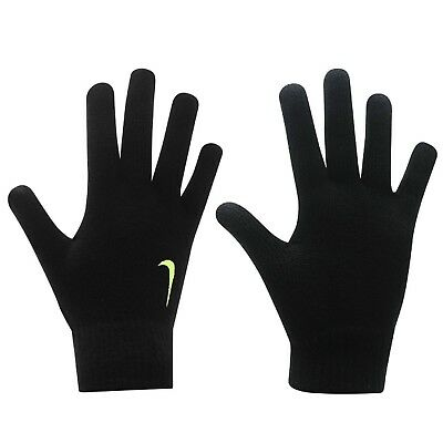 Kids Nike Knitted Gloves Boys Girls Football Running Training Cold Weather Warm