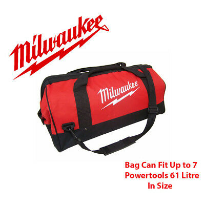 Milwaukee M18 Large Contractors Tool Bag Heavy Duty Canvas Toolbag New