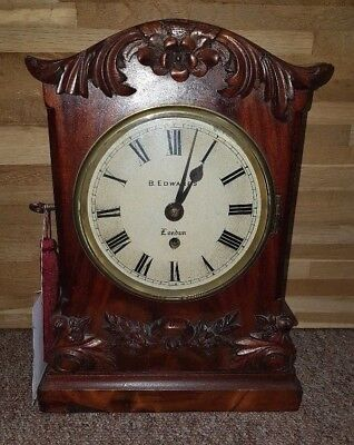 English Mahogany Single Fusee Bracket Clock, B Edwards of London SALE SALE SALE!