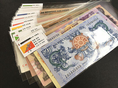 50 PCS of Different World MIX Foreign Banknotes, Currency, UNC. Free shipping.