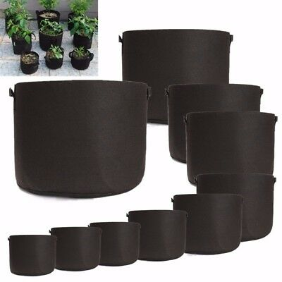 Fabric Grow Bags Breathable Pots Plant Root 1, 2, 3, 5, 7, 10, 15, 20 ,25 Gallon
