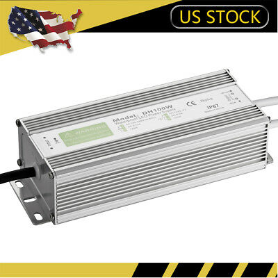 100W DC12V LED Driver Power Supply Transformer For LED Strip Waterproof IP67 UK