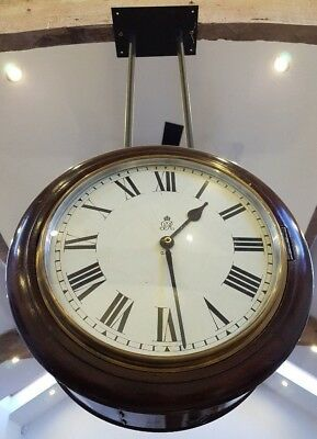 VERY RARE British Post Office GPO Double Faced Hanging Antique Clock SALE!