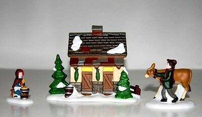 NEW Dept 56 Dickens Village Tending the New Calves