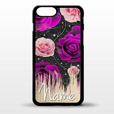 Rose pattern roses floral flower pattern vtg personalised name phone case cover