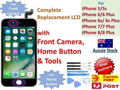 iPhone 5 5C 6 7 S Plus LCD Screen Replacement Display WITH CAMERA HOME BUTTON