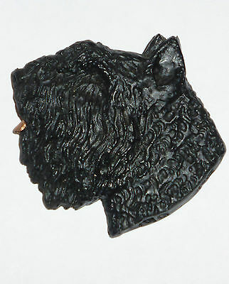 """Bouvier des Flandres Oversized 2 1/4""""x 2"""" Hand-Molded & Handpainted Pin. U.S.A."""