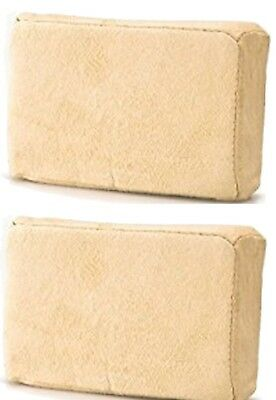 2 (Two) x Chamois Leather Sponge Pad For Demisting Car Windows