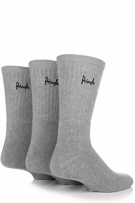 Mens 3 Pair Pringle Full Cushion Sports Socks