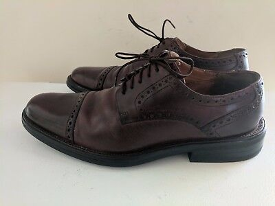 Cole Haan Men's Brown Leather Cap Toe Oxford Shoes Size 9.5M GUC