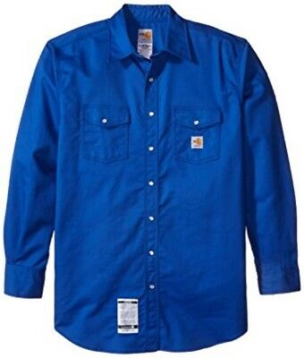 Carhartt Flame-Resistant Snap-Front Twill Shirt Royal