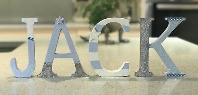 Personalised Handmade Letter Baby Name Birthday Nursery Boys Christening Gifts