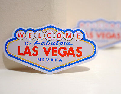 """#4418 Welcome to Fabulous Las Vegas Nevada NV USA Sign style 2x4"""" Decal sticker"""