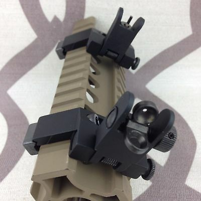Front & Rear Flip Up 45 Degree Offset Rapid Transition Backup Iron SIght