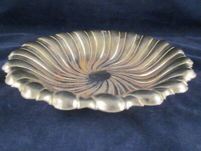 "Silverplate Silver Plated Shell Dish Made in Hong Kong 9"" ~ VINTAGE"