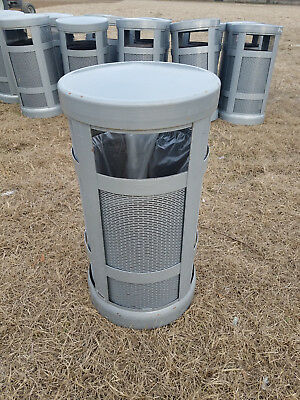 HOWARD, COMMERCIAL GARBAGE TRASH CANS, STEEL, INNER LINER, 25-30-gal, USED