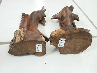 """Vintage Hand Carved Ironwood Art Dolphin and Sailfish 7-10"""""""