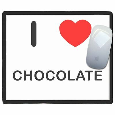 I Love Heart Chocolate - Thin Pictoral Plastic Mouse Pad Mat BadgeBeast