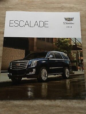 2018 CADILLAC ESCALADE 34-page Original Sales Brochure