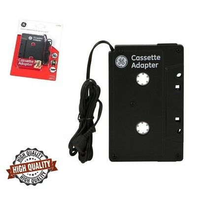 Car Cassette Player Adapter Tape MP3 Audio 3.5mm Aux Cable Cord Phone iPod Music