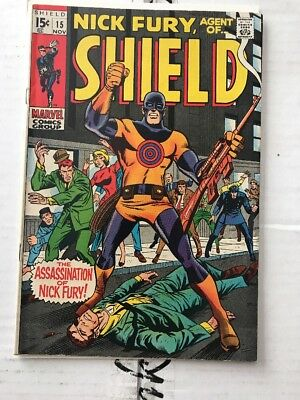 Nick Fury Agent of SHIELD #15 1st appearance of Bullseye VG+ condition