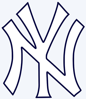 New York Yankees Logo 2-Color Vinyl Decal Sticker - You Pick Size