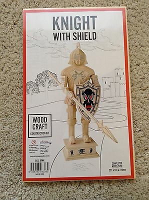New Wood Craft Construction Kit Knight With Shield Toys Hobbies Building Crafts