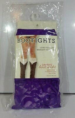 Darby's BOOTIGHTS Boot Socks PURPLE LACE TOP KNEE HI SOCK