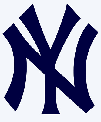 New York Yankees Logo Vinyl Decal Sticker - You Pick Color & Size