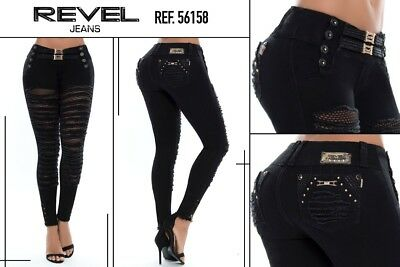 Women revel jeans levanta cola butt lift jeans push up colombiano