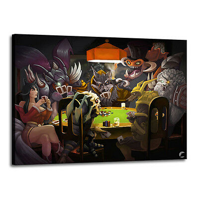 Home Decor Art Quality Canvas Print, Dogs Playing Poker  16x22